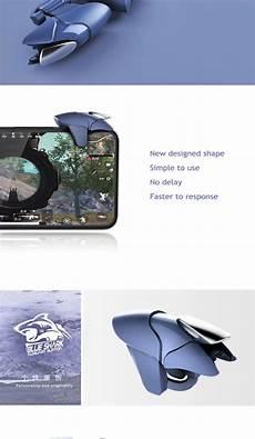 Blue Shark Joystick Shooter Button by Factory Price Blue Shark Mobile Phone Controller L1r1