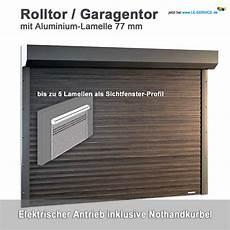 rolltor garagentor mit kasten lamelle 77 aluminium
