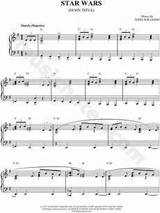 quot star wars main theme quot from star wars sheet music piano solo in g major transposable