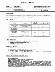 official resume format india 100 good resume
