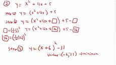 convert to vertex form by completing the square youtube