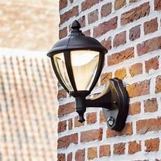 lutec unite up pir 9w lantern exterior led wall light in
