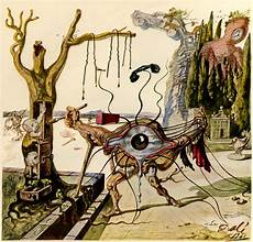 a surreal painting by salvador dali intended to represent