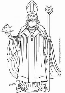 Ausmalbild Bischof Nikolaus Bischof Nikolaus Myra Nikolaus Bischof Nikolaus