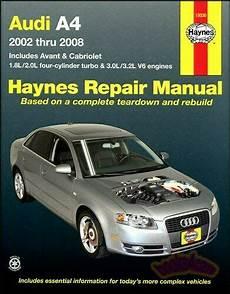 free car repair manuals 2002 audi s4 electronic valve timing shop manual audi a4 service repair haynes book chilton avant cabriolet ebay
