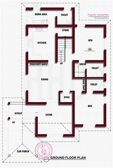 2 bedroom house plan kerala kerala house floor plans 2 bedroom house simple plan