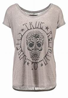 true religion t shirt print dusty olive damen bekleidung