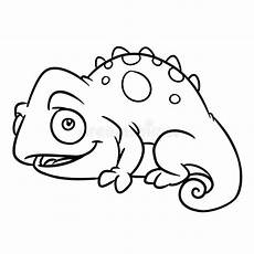 happy animals coloring pages 17007 chameleon animal coloring pages stock illustration illustration of line outline 83765389