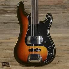 fender fretless precision bass fender precision bass fretless sunburst 1981 s237 reverb