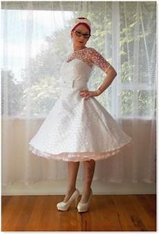 Pixie Poket Robe Vintage Polka Dot Wedding Dress