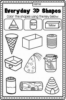 identifying shapes worksheets 1149 2d and 3d shapes worksheet pack no prep figuras y cuerpos geometricos actividades de
