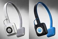 best headphones for ipod cord free headphones integrate apple s ipod shuffle into