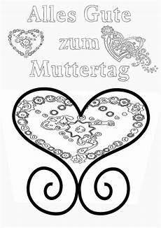 Malvorlage Herz Muttertag Muttertag Ausmalbild Malvorlage Gru 223 Mit Herz
