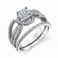 sterling silver cz engagement wedding ring cubic zirconia pave ebay