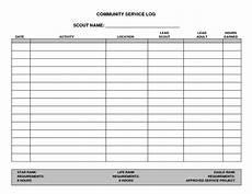 7 best images of printable hours log volunteer hours log