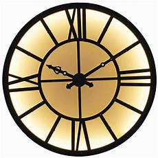 lichtgevende klok in zwart metaal d121 maisons du monde