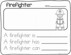 writing about community helpers kindergarten by first grade schoolhouse
