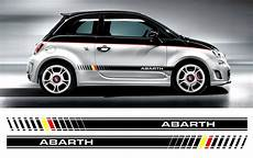 fiat 500 abarth bi color custom side stripe decal