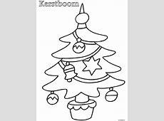 Kleurplaat Peuter kleurplaat kerstboom   Kleurplaten.nl