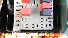 fiat punto relays fusebox