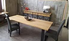 table salle a manger style industriel table de salle 224 manger style industriel plateau en ch 234 ne
