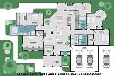moderne luxusvilla grundriss home plans and residence plans arcmax architects