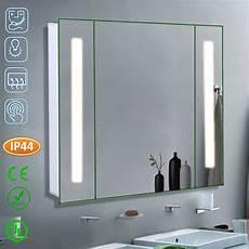 ir sensor bathroom mirror cabinet led light shelf