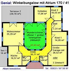 atrium bungalow grundrisse atrium 7 2 winkelbungalow einfamilienhaus neubau massivbau