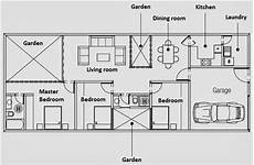 one floor house plan in 160 m2 land home plans design