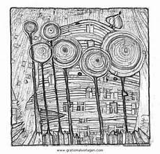 Malvorlage Hundertwasser Haus Hundertwasser 1 Jpg 640 215 621 Ausmalbilder Malvorlagen