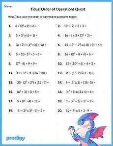 order of operations worksheet 19 resources for your class