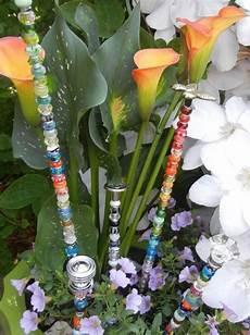 Gartenstecker Selber Machen Glas Perlen Turknaufe Metall