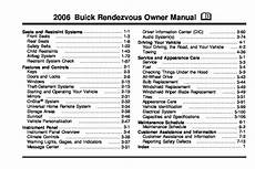 2006 buick rendezvous owners manual just give me the damn manual