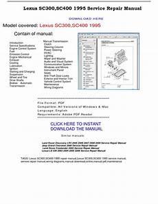 download car manuals 2008 lexus sc instrument cluster lexus sc300 sc400 1995 service repair manual by repairmanualpdf issuu