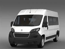 Peugeot Boxer Minibus 2014 3d Model Flatpyramid