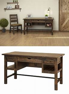 real wood home office furniture bring a rustic charm into your home office with this solid