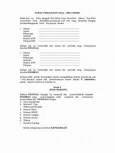 contoh surat perjanjian jual beli mobil sederhana lengkap