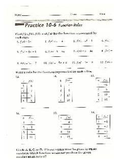 function rules worksheet for 8th 9th grade lesson planet