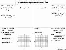 graphing linear equations in standard form foldable for