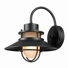globe electric liam 1 light matte black outdoor wall sconce 44233 the home depot