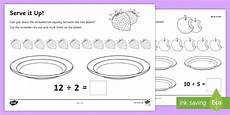 serve it up worksheet activity sheets year 1 maths