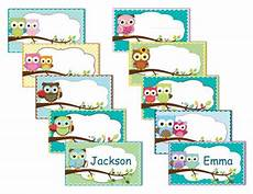 printable owl labels name tags owls instant by