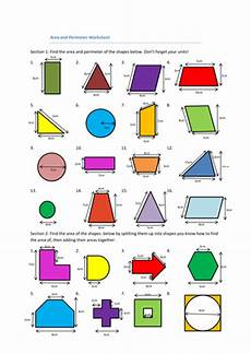 shapes areas worksheets 1036 area and perimeter 2d shapes teaching resources