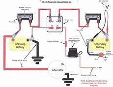 split charge relay wiring diagram wiring in a split charge relay system landyzone land rover