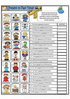 worksheets present tense 19016 simple present tense to simple past tense regular verbs worksheet free esl printable
