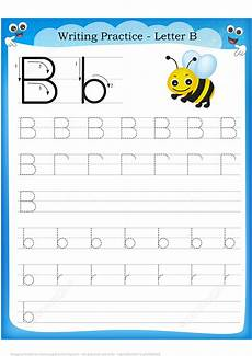letter b writing worksheets 24032 letter b is for bee handwriting practice worksheet free printable puzzle