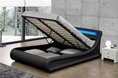 cadre de lit avec coffre cadre de lit led noir pas cher avec coffre de rangement