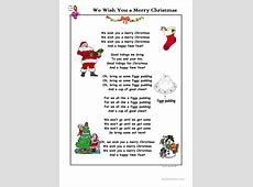 I Want To Wish You A Merry Christmas Song-I Wish You Merry Christmas Text