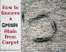 How To Remove A Grease Stain From Carpet Frugal Family Home