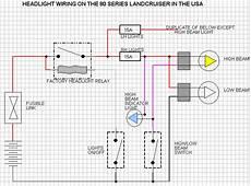 80 series land cruiser headlight wiring